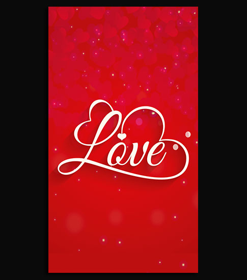 Red Love Background For Your Cell Phone
