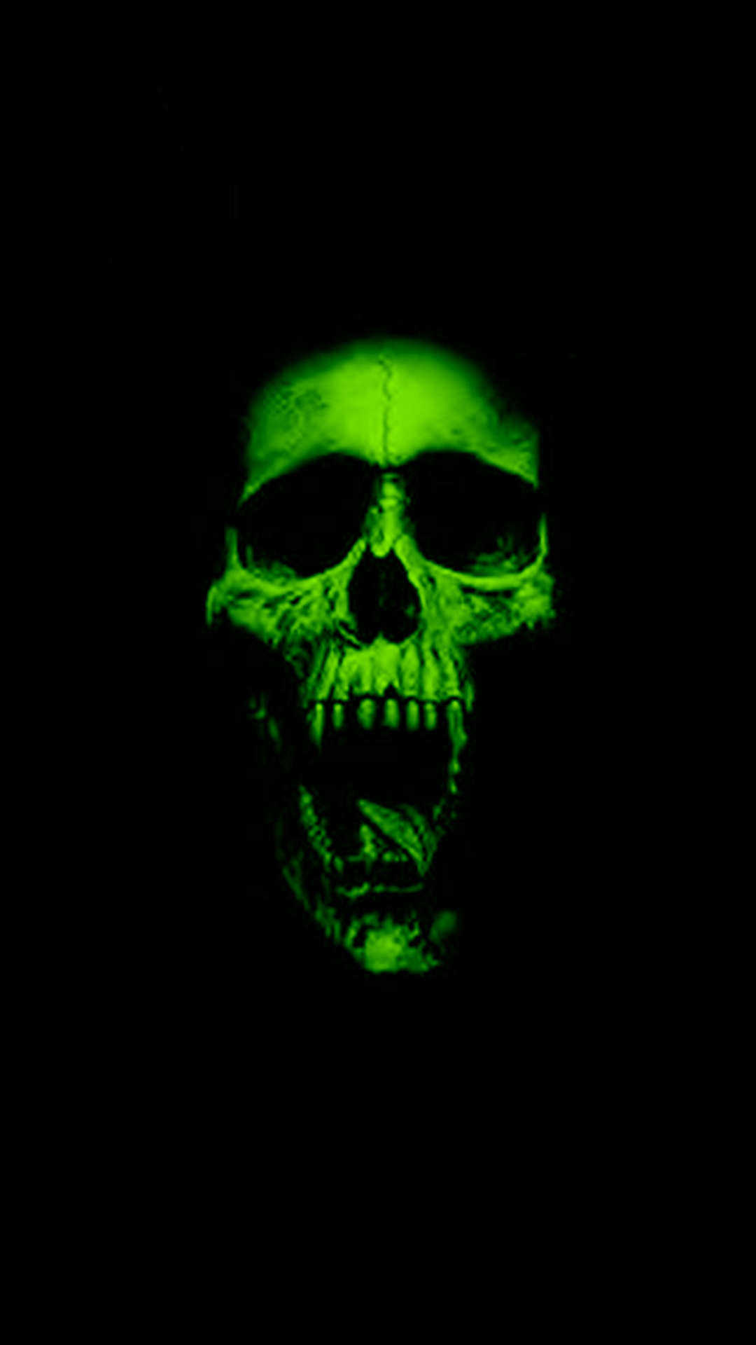 The gallery for --> Skulls On Fire Green