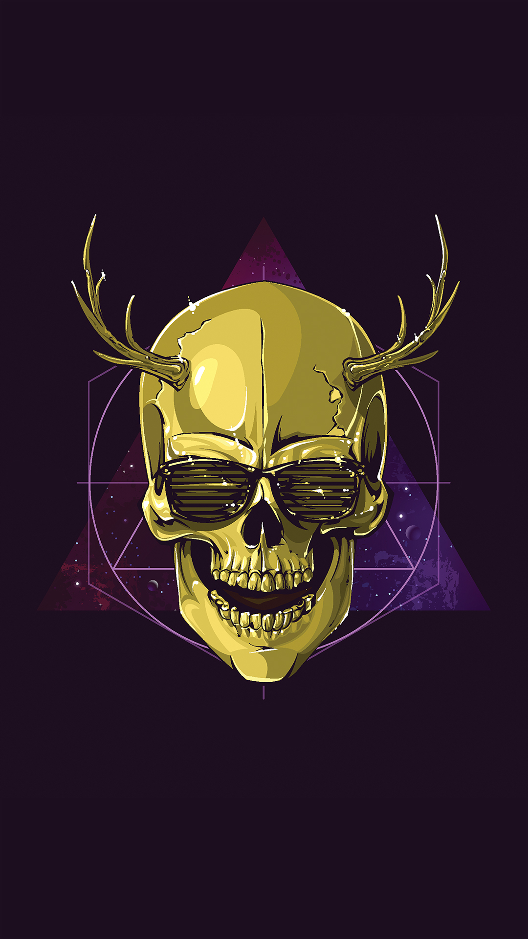 Hd wallpaper download for android phones - Hipster Skull