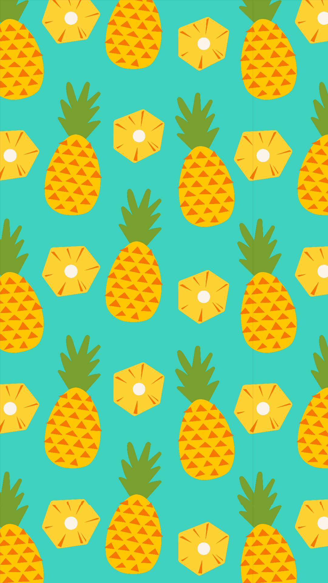 Wallpaper iphone pineapple - 1mb