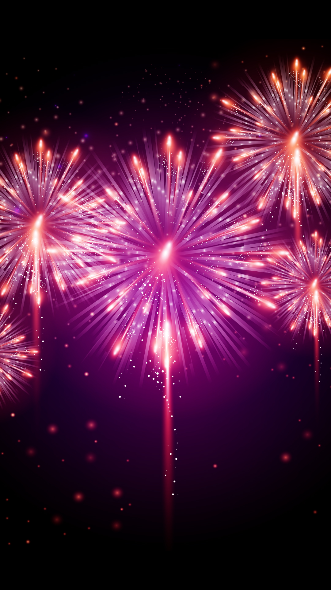 pink fireworks hd wallpaper for your mobile