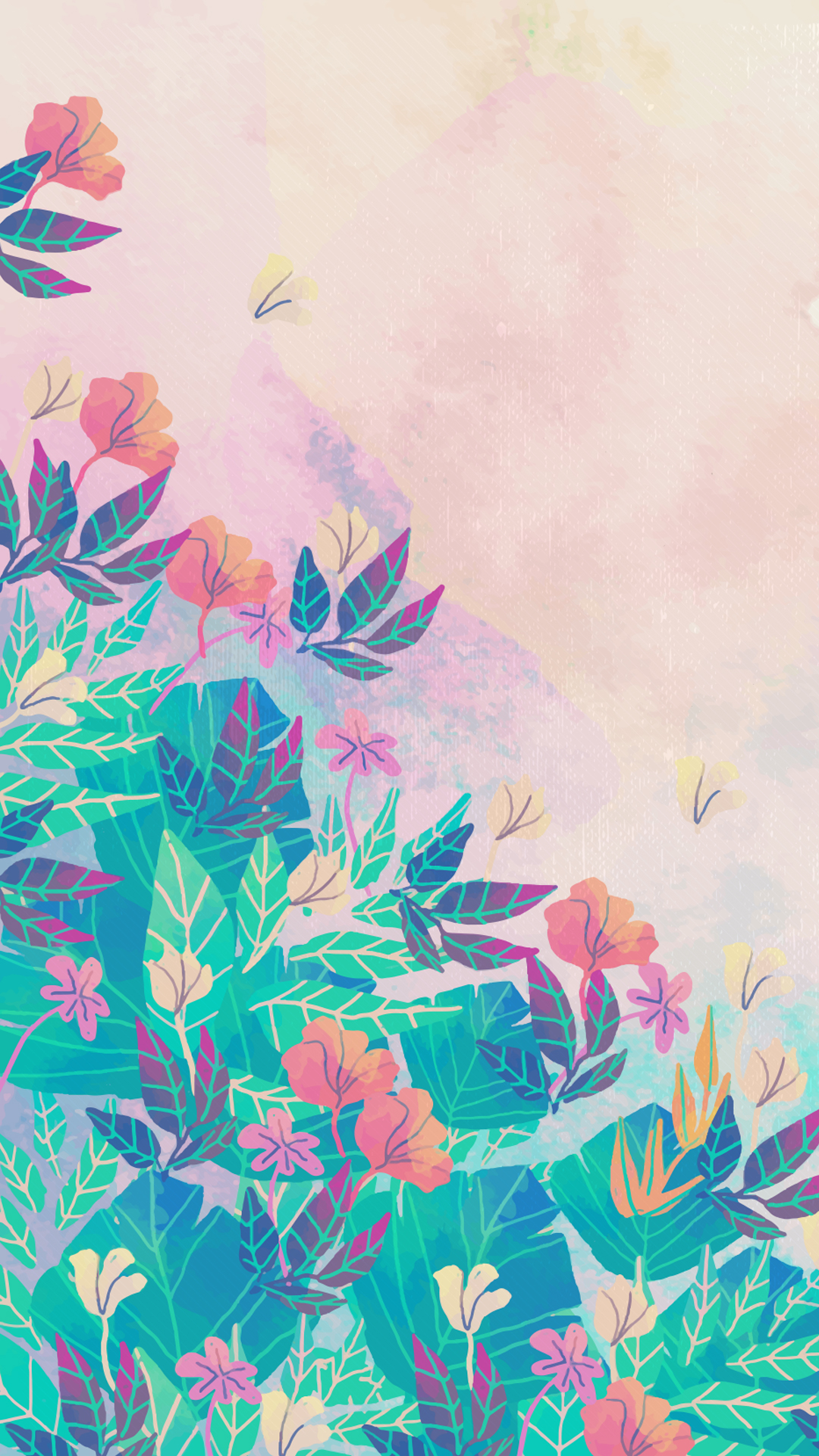 flower painting watercolor wallpaper - photo #49