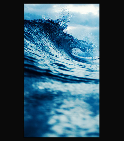 Blue Waves HD Wallpaper Images