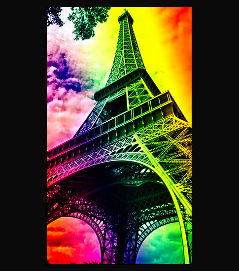 Eiffel Tower Background For Your Mobile Phone