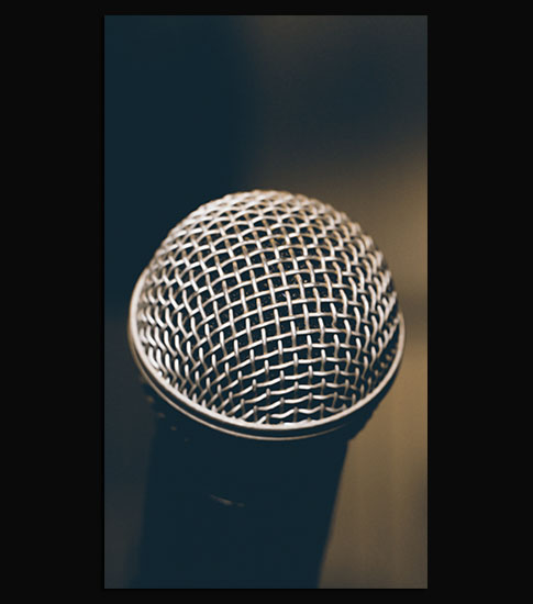 Microphone Background For Your Mobile Phone