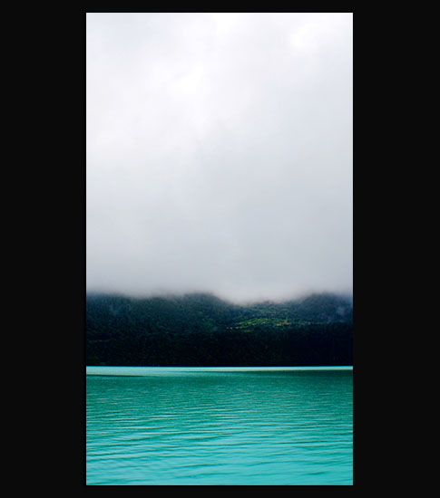Misty Lake Background For Your LG Phone