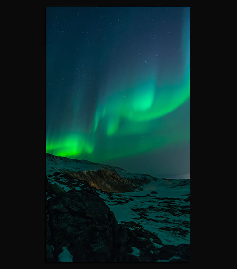 Northern Lights Sky Background For Your LG Phone