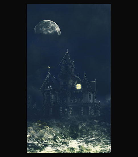 Scary House Samsung Galaxy Wallpaper