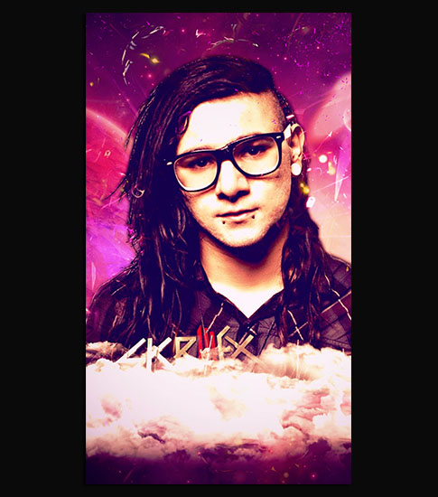 Skrillex iPhone Wallpaper
