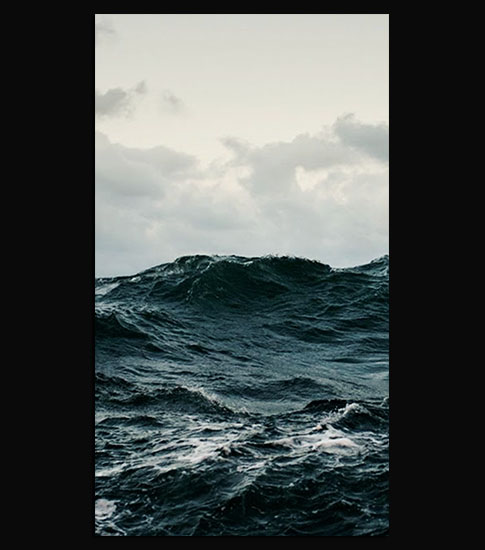 Stormy Sea Background For Your LG Phone