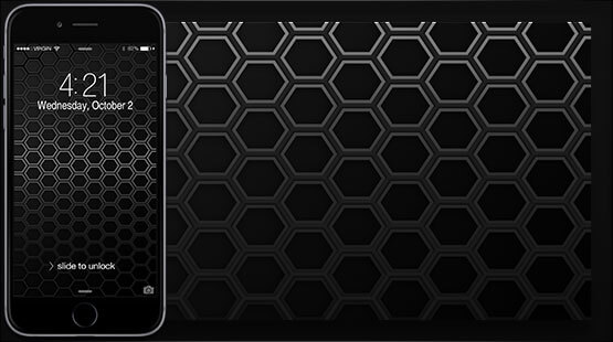 Black Hex Smartphone Wallpaper