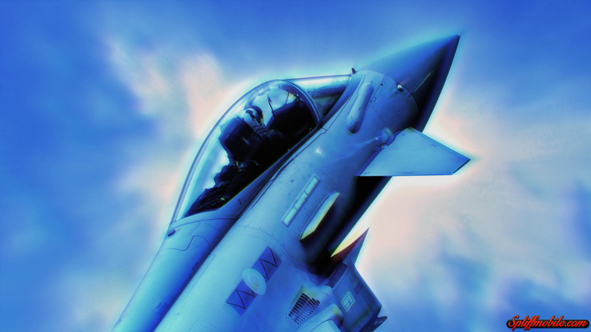 HD Blue Fighter Jet Wallpaper