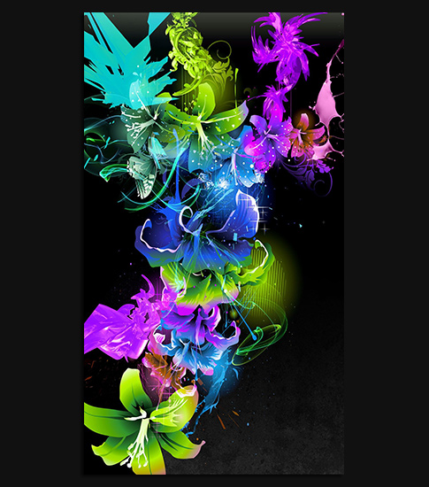 Abstract flowers hd wallpaper for your xperia smartphone for Abstract smartphone wallpaper