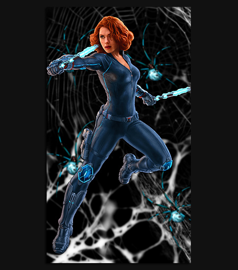 Black Widow Hd Wallpaper For Your Android Phone Spliffmobile
