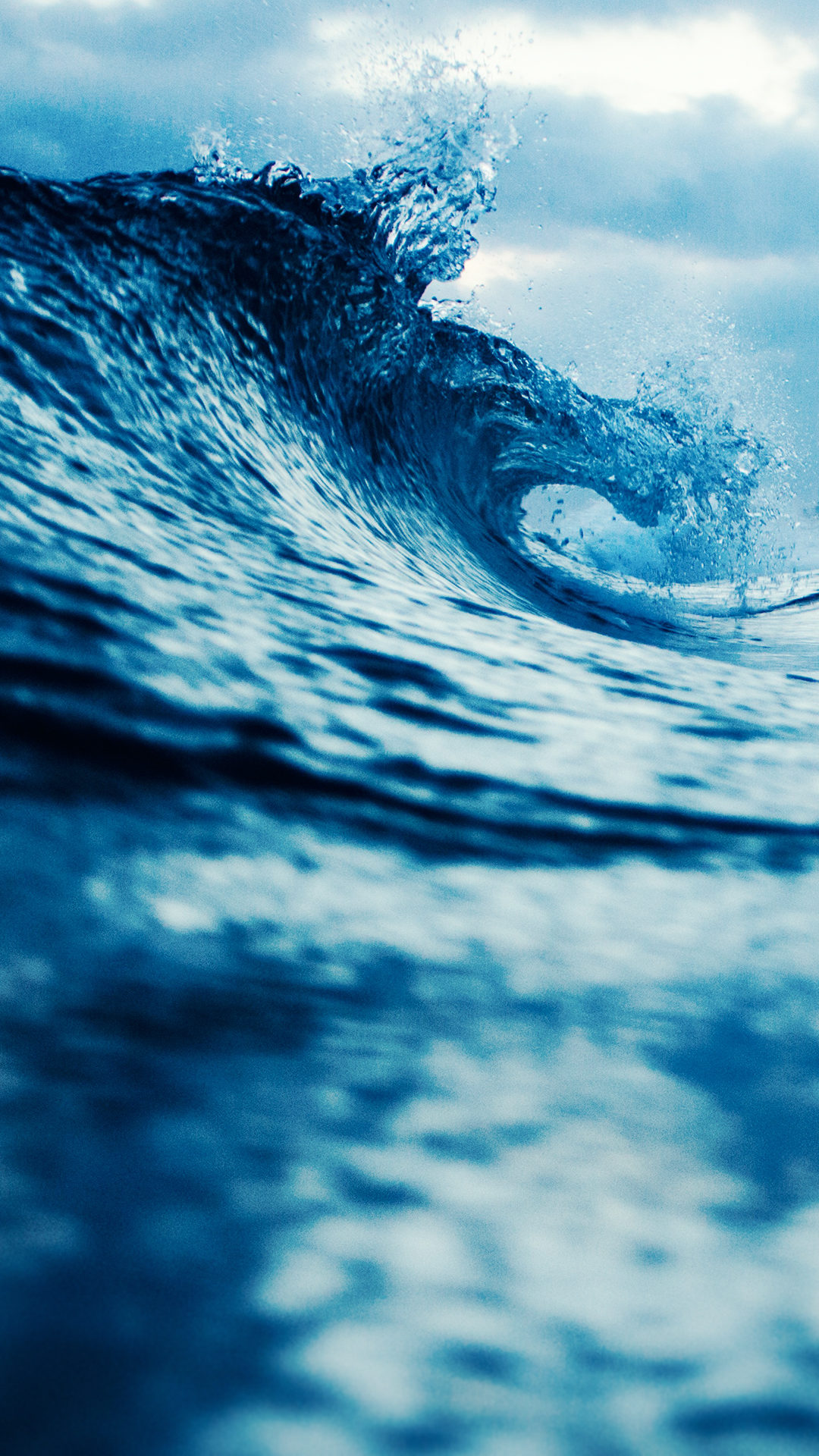 blue waves hd wallpaper for your mobile phone