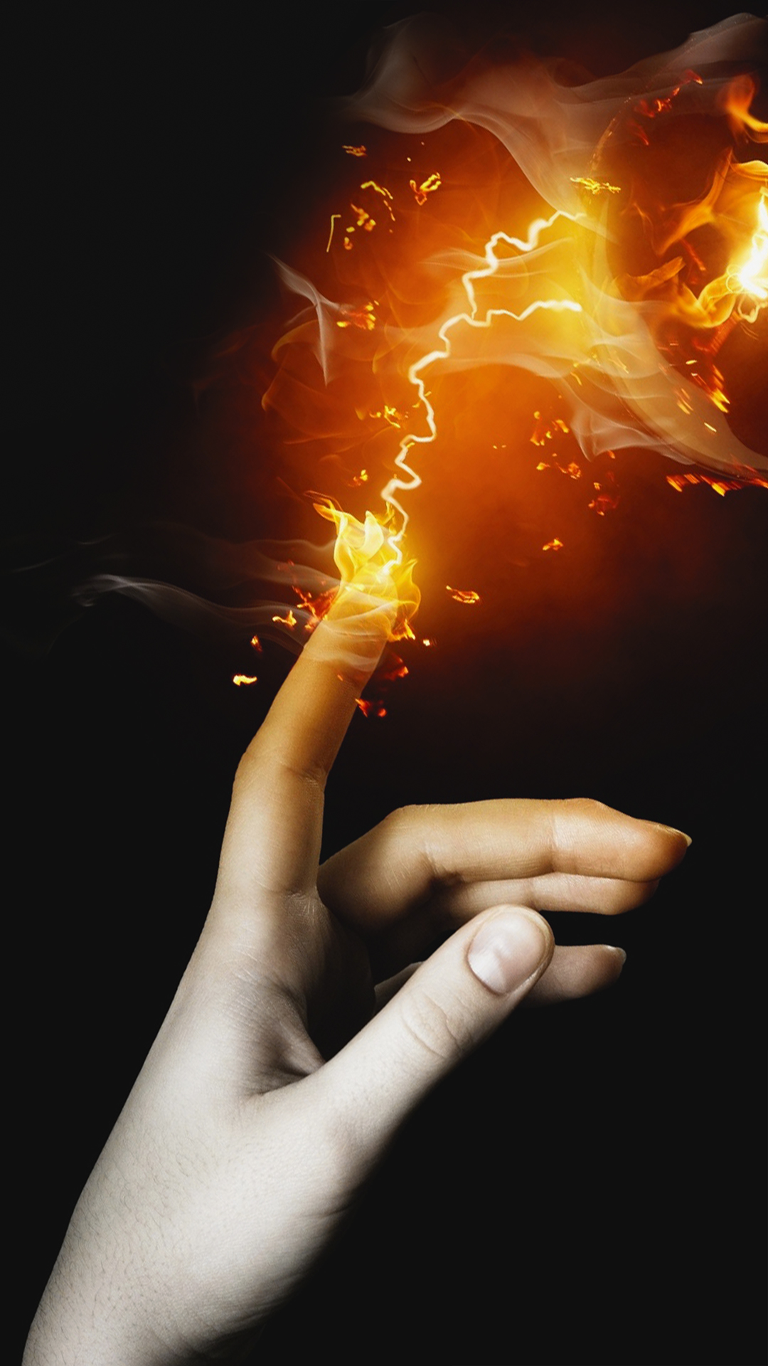 Fire Touch Hd Wallpaper For Your Mobile Phone