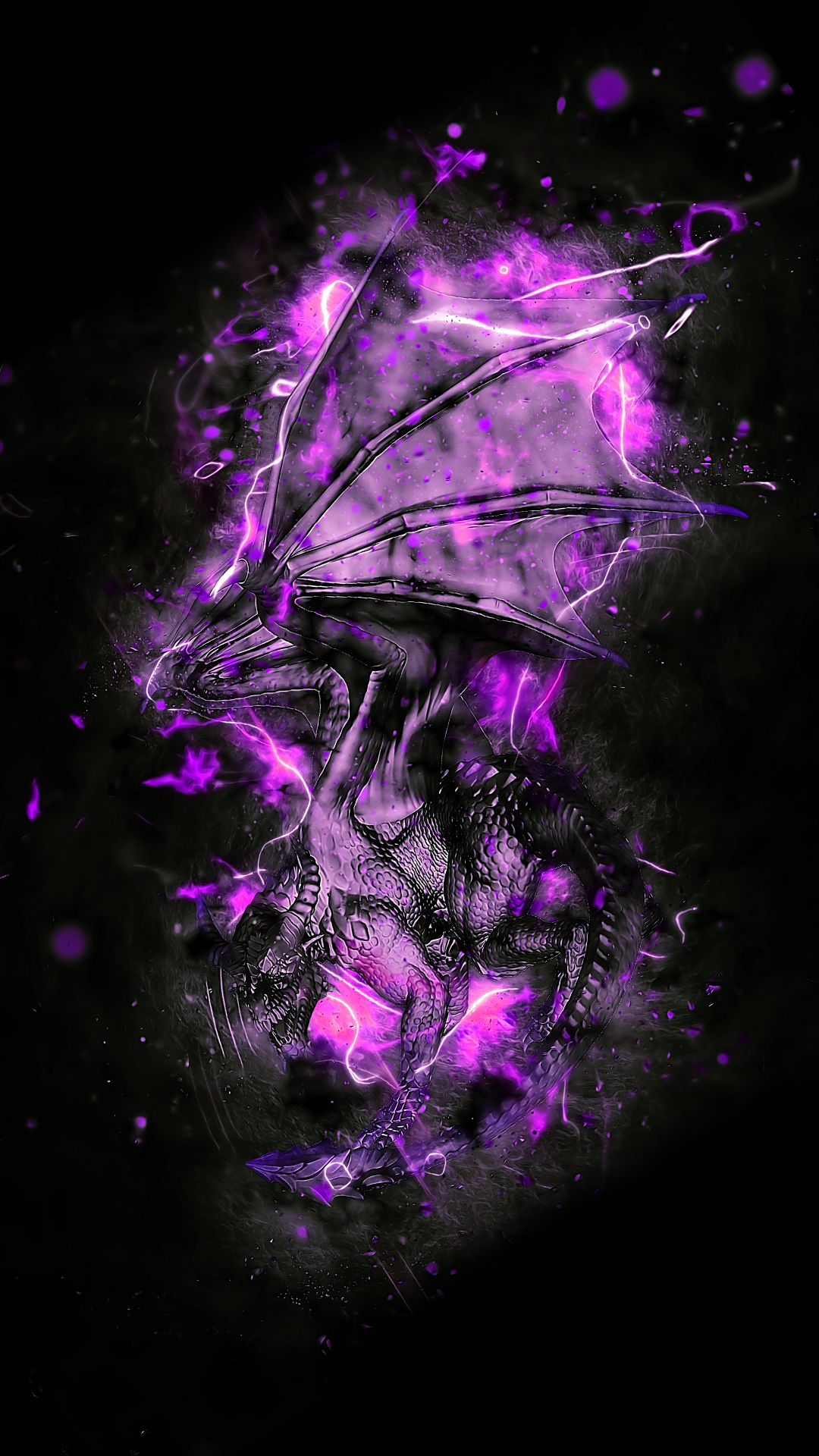 Purple Dragon HD Wallpaper For Your Mobile Phone