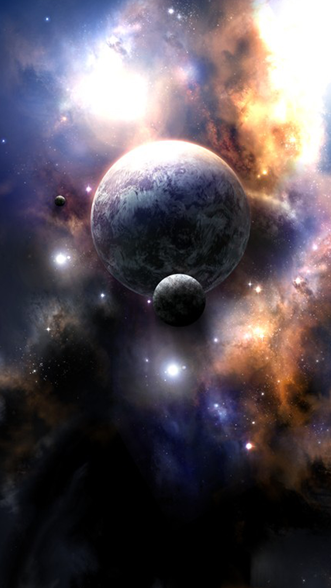 Ultra deep space hd wallpaper for your mobile phone - Deep blue space wallpaper ...