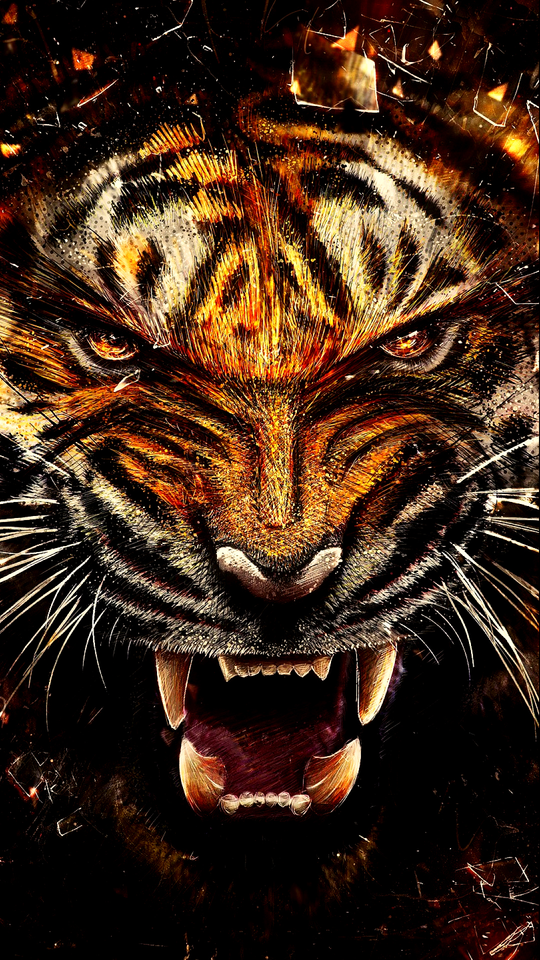 Wild Tiger HD Wallpaper For Your Mobile Phone