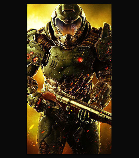 Doom Soldier Free Cell Phone Background
