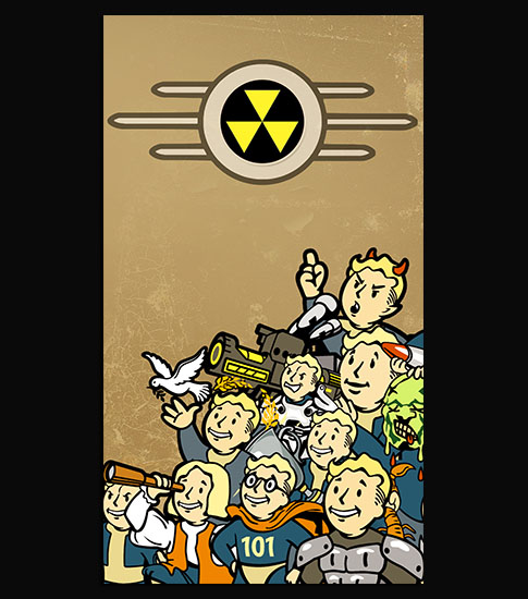 Vault Boy Perks IPhone 6 Background Wallpaper
