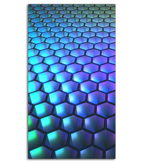 Abstract Hexagon HD Wallpaper For Your Mobile Phone