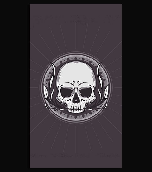 Bone Skull Club Hd Wallpaper For Your Mobile Phone