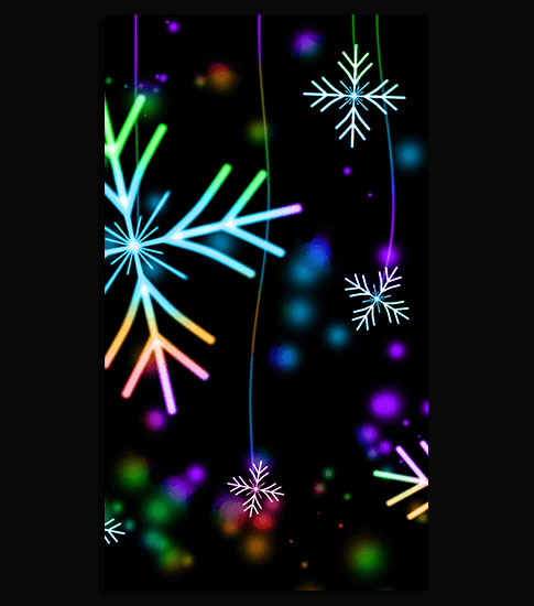Neon snowflakes hd wallpaper for your mobile phone - Neon hd wallpaper for mobile ...